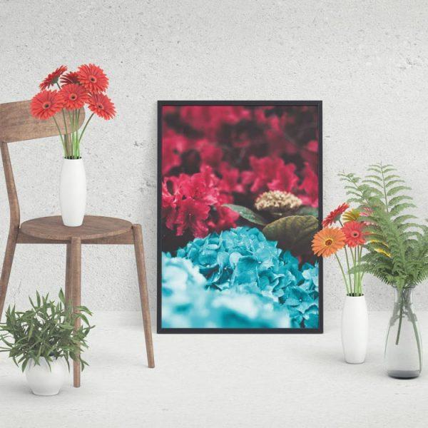 blommig tavla poster