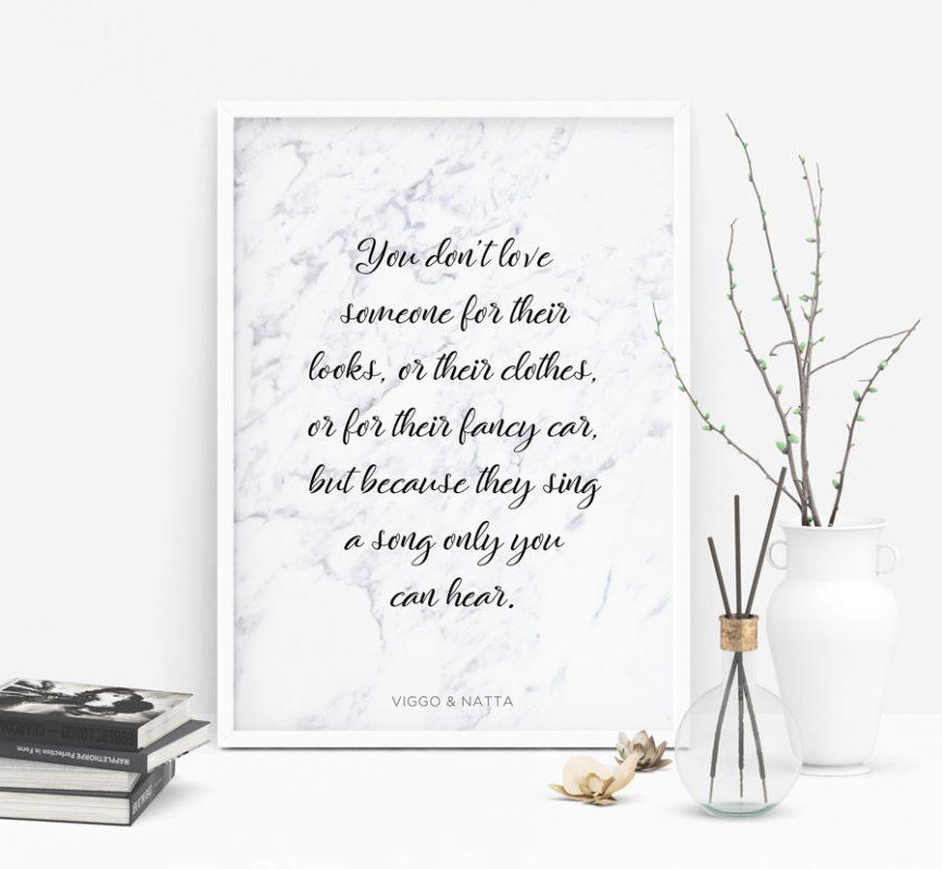 Rachelle marmor poster